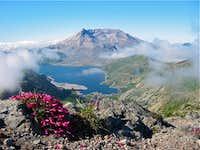 Mt Saint Helens and Spirit Lake