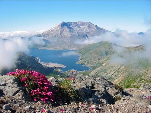 Mt Saint Helens and Spirit Lake