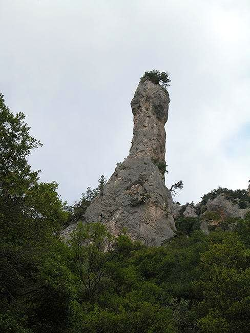 One of the spires of...