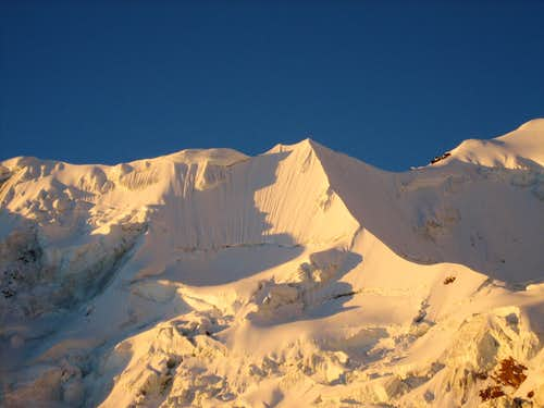 Illimani Norte at sunset