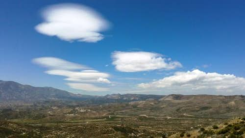 Lenticular clouds over Cajon Pass