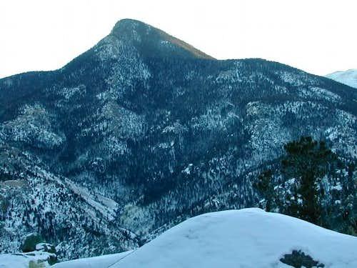 Winter view of Cameron Cone...