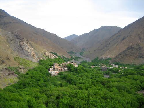 From the top of Armet -- Imlil Valley (for trip report)