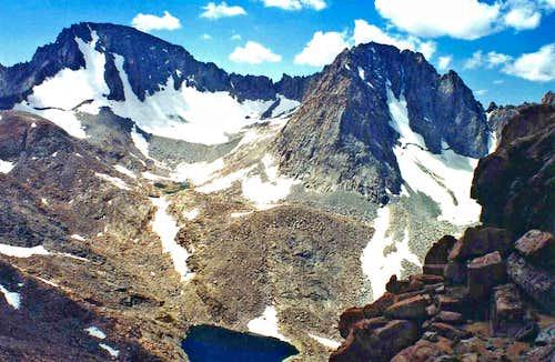 Mt Darwin and Mt. Mendel from Lamarck col