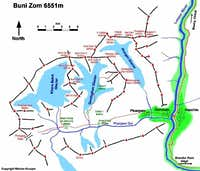The map of Buni Zom, the map...