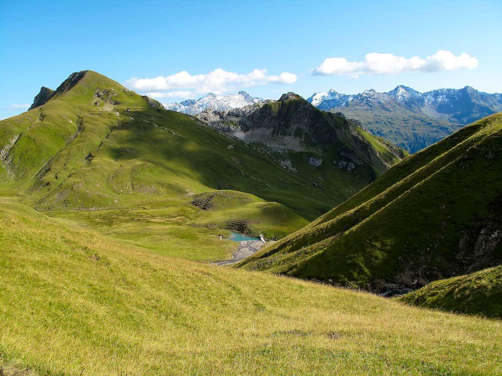 Lovely scenery in the Lechquellengebirge