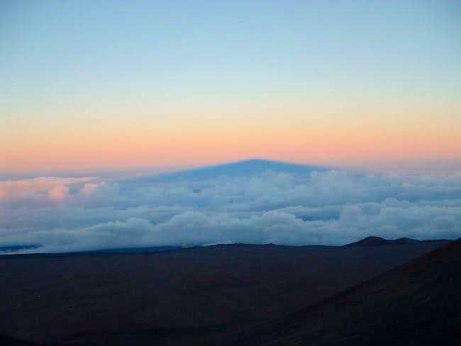 Mauna Kea's shadow near sunset
