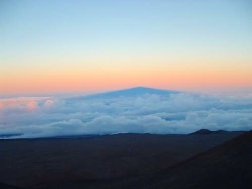 Mauna Kea's shadow near sunset