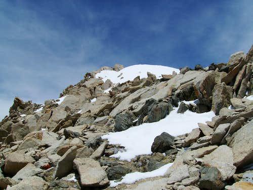 Looking up the ridge