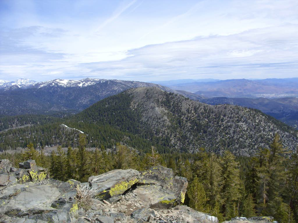 Duane Bliss Peak from the summit of South Camp Peak