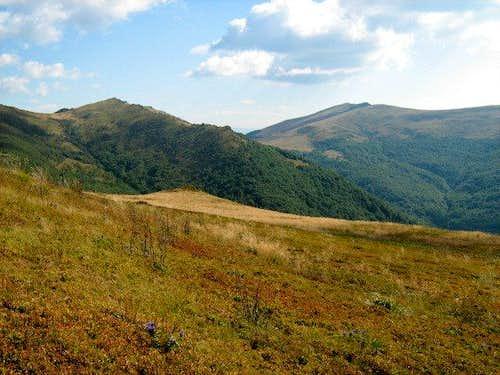 View from Mount Bukowe Berdo