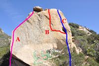 Routes of the west face