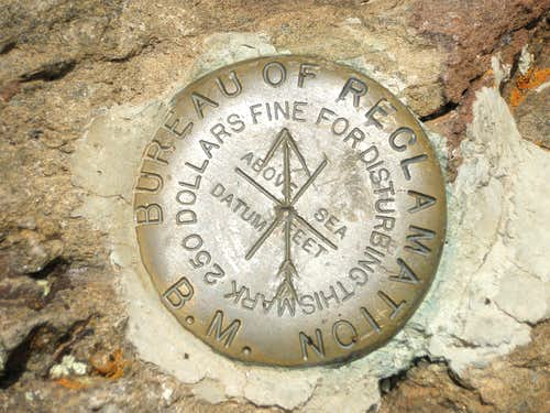 Sheep Mountain Summit Marker