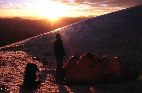 Camp 1 at 5300m on Huascaran...