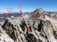 Echo Peaks, Labeled Skyline