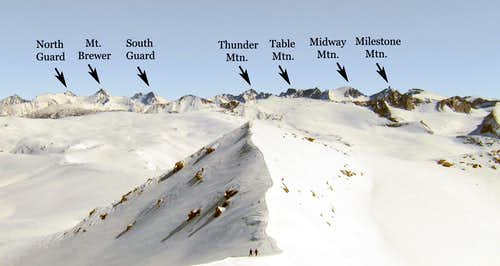 Winter Alta Peak, Labeled Skyline