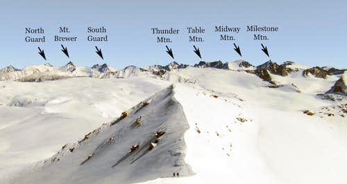 Winter Alta Peak, Labeled Skyline