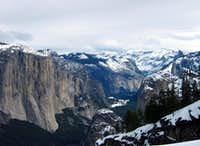 The Yosemite Valley from Stanford Point, February 2010
