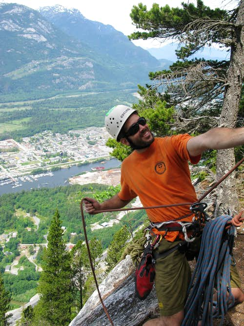 Tom climbing in Squamish