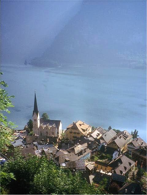 Hallstatt, on the shore of...