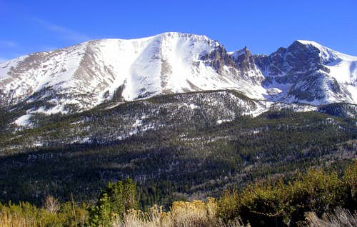 Jeff Davis Peak, Wheeler Peak Cirque and Wheeler Peak