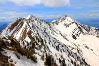 Provo Peak summits, east and west.