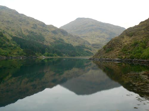 Sgurr a'Mhaoraich over Loch Beag