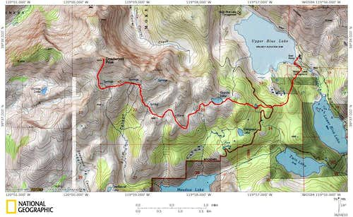 Deadwood Peak route