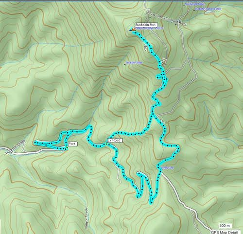 Buckskin Mountain Routes