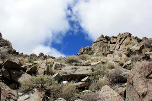 Boulders under the summit