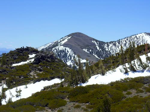 Chocolate Peak 9402\' from Alpine Walk Peak 9038\'