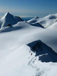 allalinhorn from alphubel SE ridge