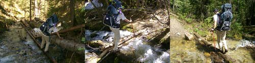 Stream crossings, Manzanita Canyon Trail