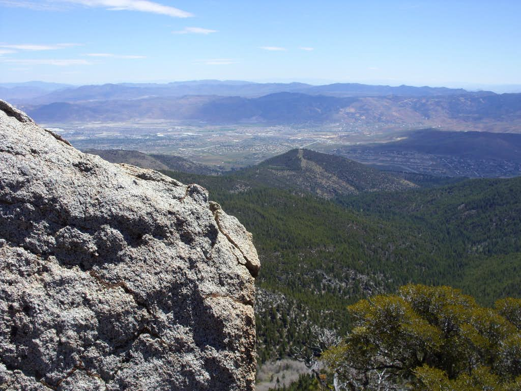 View east from the southeast summit to Dry Pond Peak