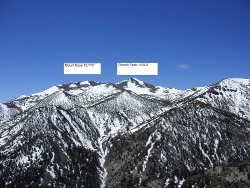 Mount Rose and Church Peak from Alpine Walk Peak June 5 2010