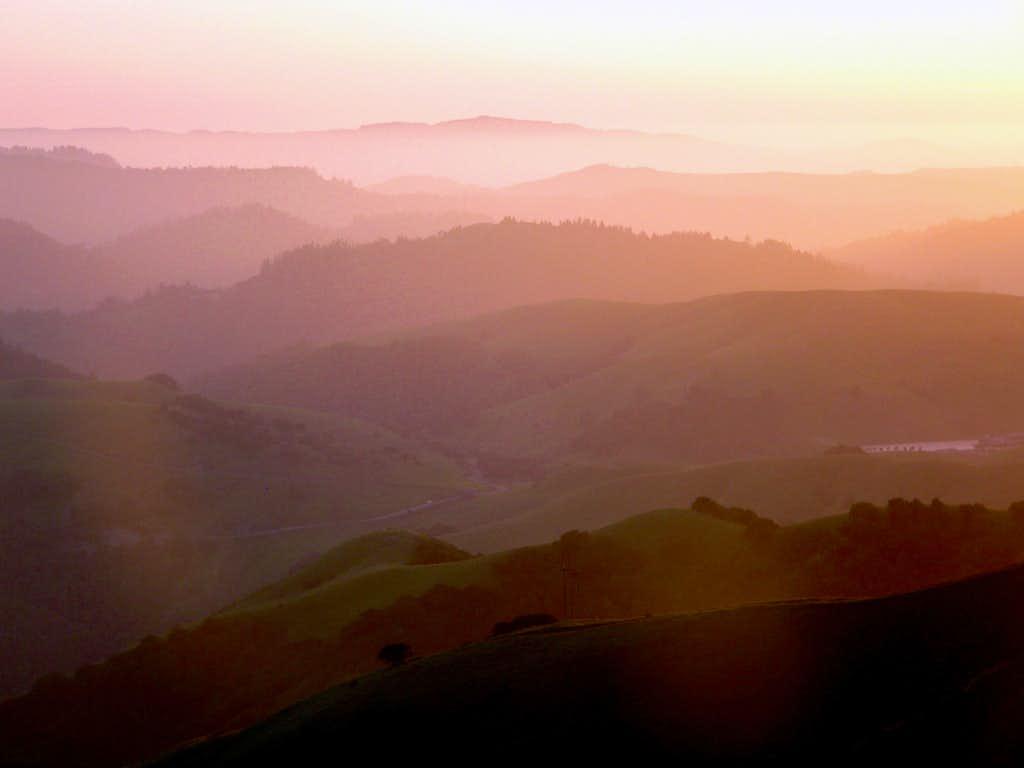 Soft Sunset From Big Rock Ridge   Photos  Diagrams  U0026 Topos