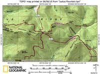 Justus Mountain Route Map