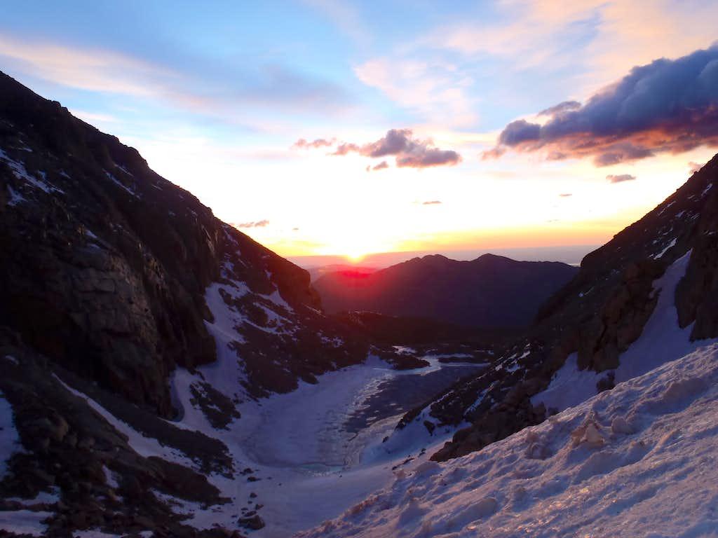 Sunrise on Longs Peak