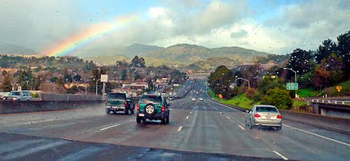 Rainbow over Highway 101