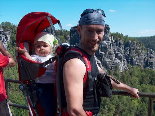 Mikolaj and me on Bastei