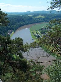 The Elbe from Bastei