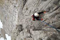 Unai climbing the classic south face