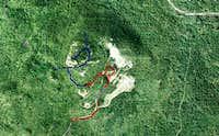 Carlton Peak Map