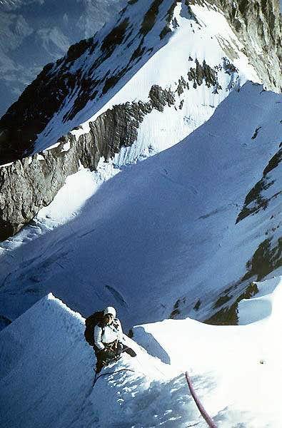Moni on the NE Ridge of the...