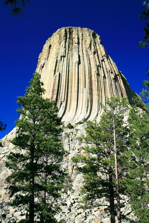 Devils Tower in late afternoon