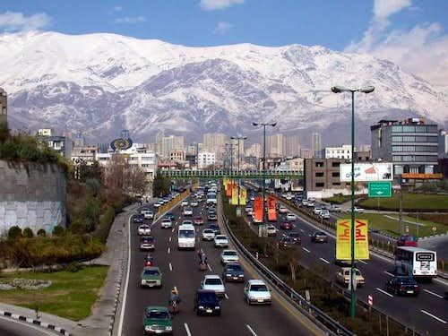 Tehran and Mt. Tochal, early...