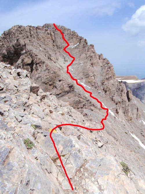 Mytikas Scramble Route