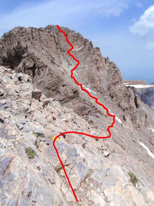 Mytikas Scramble Route