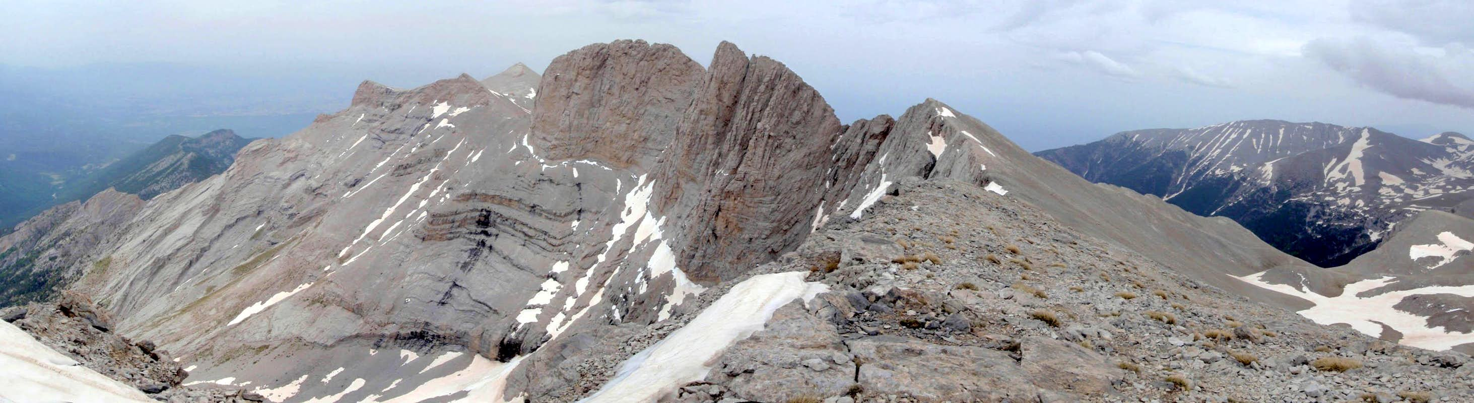 Mount olympus highpoint of greece trip reports summitpost mount olympus panorama sciox Choice Image