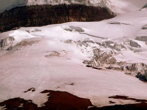 Cotopaxi glacier.